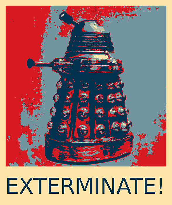 Dalek - Exterminate Juniors T-Shirt for Sale by Richard Reeve