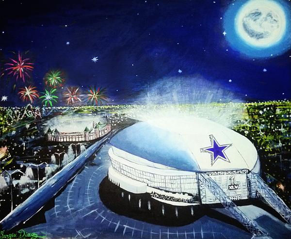 Dallas Cowboys Stedium Print by Sergio Diaz