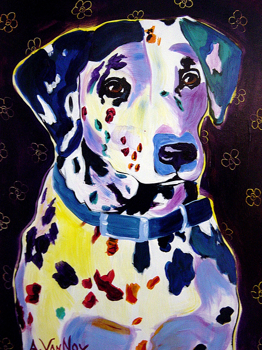 Dalmatian - Dottie Print by Alicia VanNoy Call