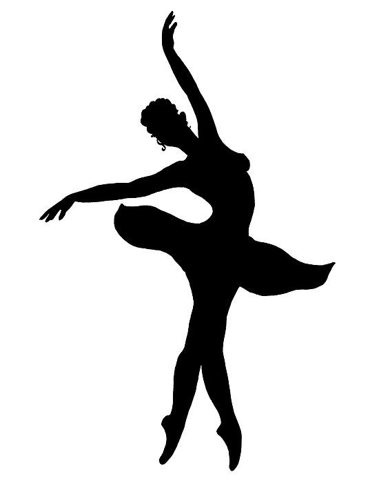 Gutsy image in printable ballerina silhouette