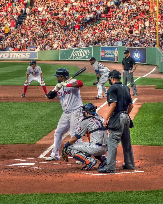 David Ortiz - Boston Red Sox Print by Joann Vitali