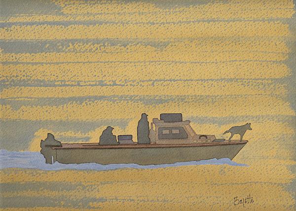 Dawn At Prout's Neck Print by Robert Boyette