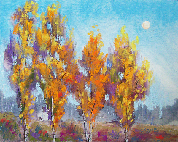 Day Lit Moon Print by Christine Camp