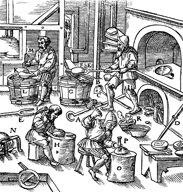 De Re Metallica, Metallurgy Workshop Print by Science Source