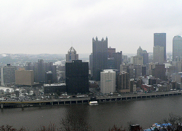 December Pittsburgh Print by David Bearden