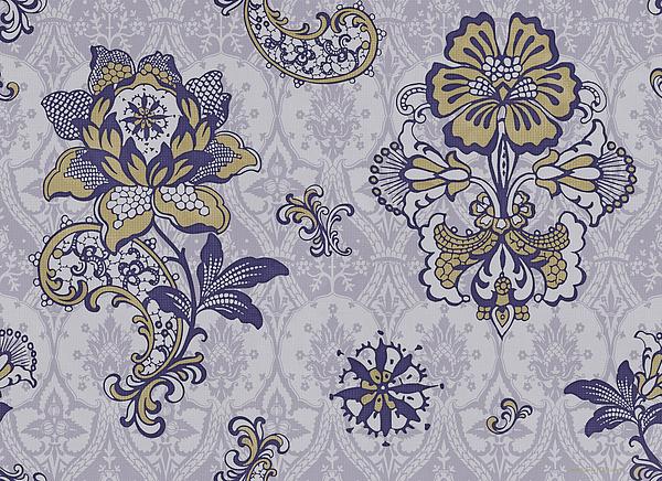 Deco Flower Blue Print by JQ Licensing
