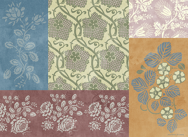 Deco Flower Patchwork 2 Print by JQ Licensing