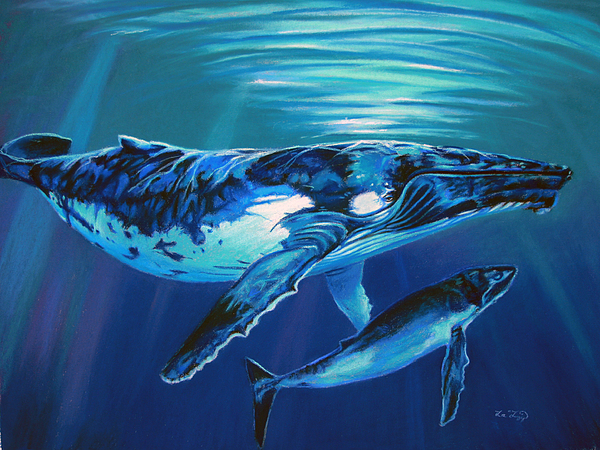 Deep Water Devotion Print by Deb LaFogg-Docherty
