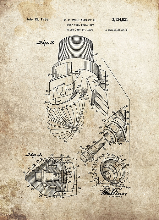 Deep Well Drill Bit Patent by Dan Sproul