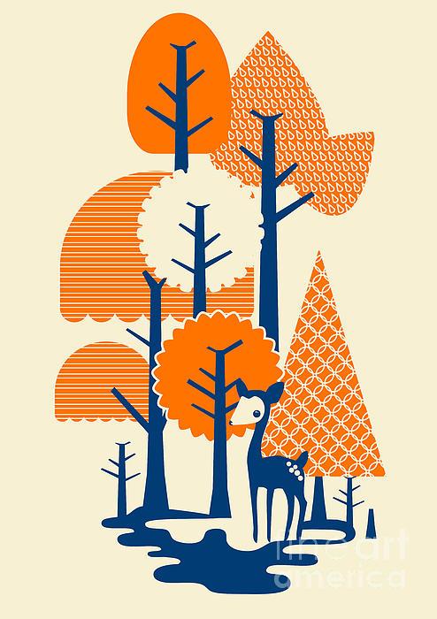 Deer Forester Print by Budi Satria Kwan