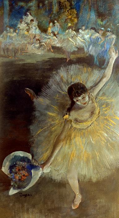 Degas: Arabesque, 1876-77 Print by Granger