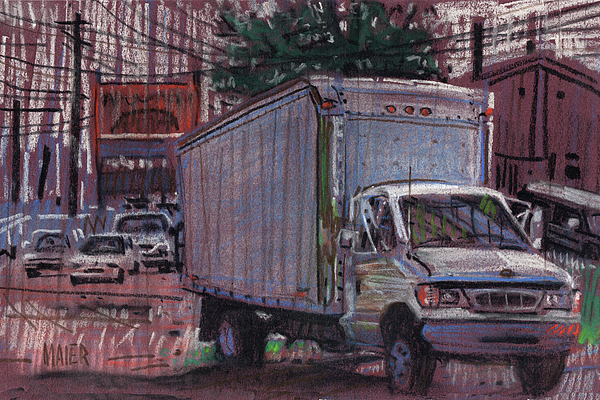 Delivery Truck 2 Print by Donald Maier