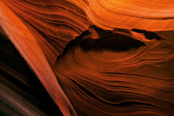 Desert Carvings Print by Mike  Dawson