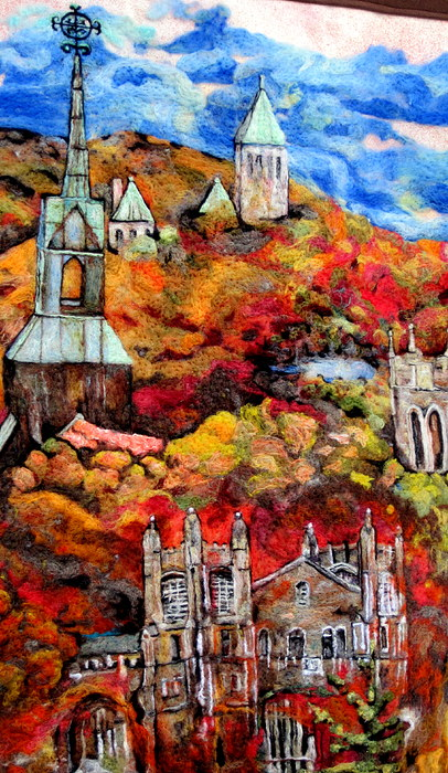 Detail Of Fall Print by Kimberly Simon