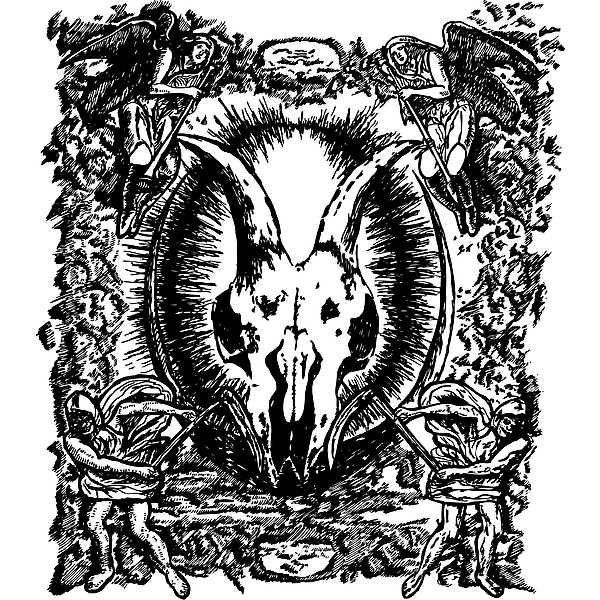 Deth Metal Print by Karl Addison