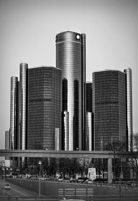 Detroit Renaissance Center General Motors Gm World Headquarters Print by Ryan Dean