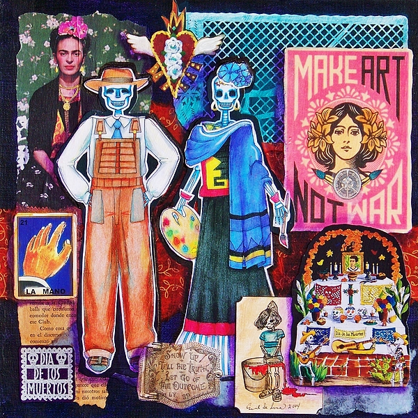 Diego And Frida Print by Candy Mayer