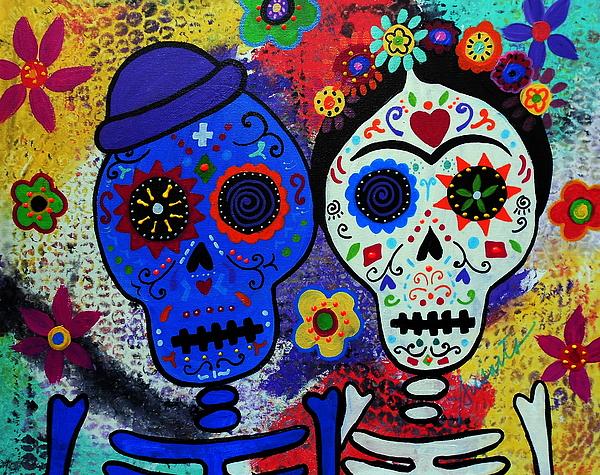 Diego Rivera And Frida Kahlo Dia De Los Muertos Throw