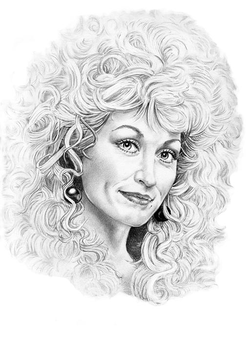 Dolly Parton Print by Murphy Elliott