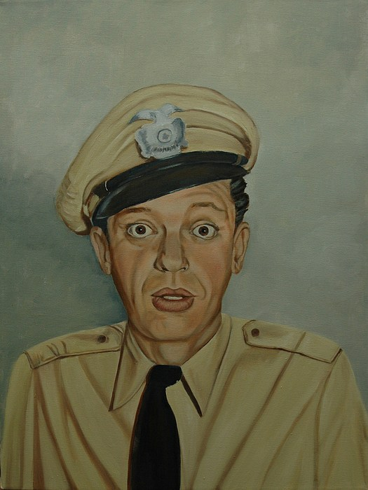 Don Knotts As Barney Fife Print by Tresa Crain