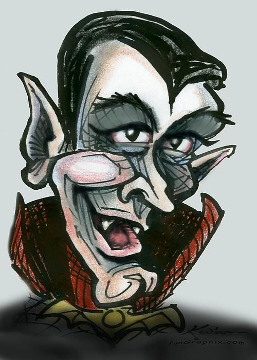 Dracula Print by Kevin Middleton