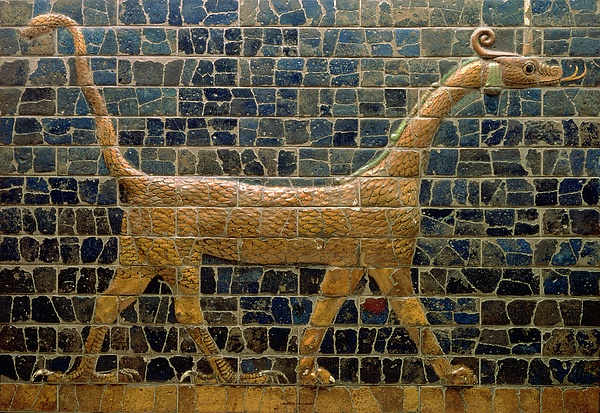 Dragon Of Marduk - On The Ishtar Gate Print by Anonymous