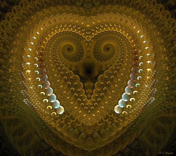 Dragonheart Print by Sandra Bauser Digital Art