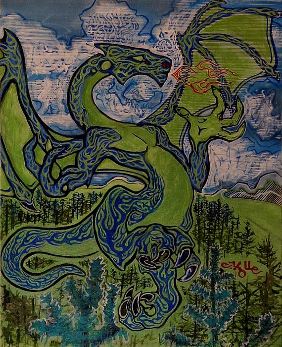 Dragonosity Print by Christian Kolle