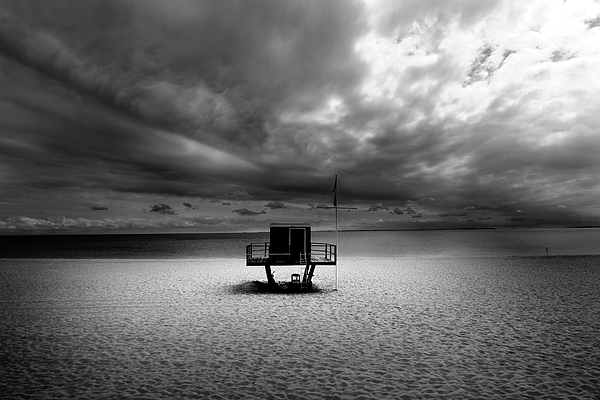 Dramatic Beach Print by Marc Huebner