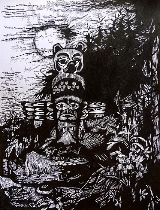 Dreaming Alaska. Part Two Print by Anna  Duyunova