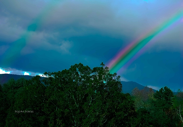 Dueling Rainbows Print by DigiArt Diaries by Vicky B Fuller