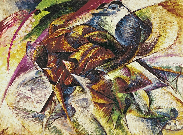 Dynamism Of A Cyclist Print by Umberto Boccioni