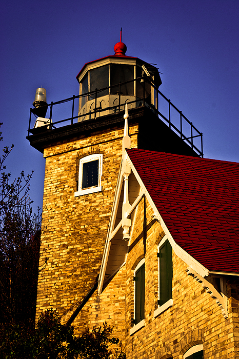 Eagle Bluff Lighthouse Of Door County Print by Shutter Happens Photography