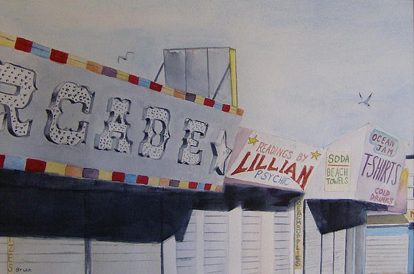 Early Morning Boardwalk Print by Brian Degnon