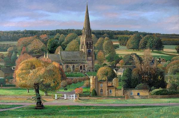 Edensor - Chatsworth Park - Derbyshire Print by Trevor Neal