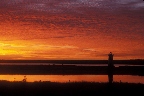 Edgartown Lighthouse Sunrise Print by John Burk