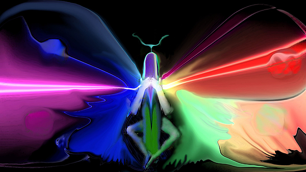 Electric butterfly print by kenneth lambert