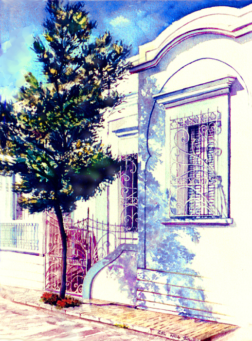 Elegance And Modesty Print by Estela Robles