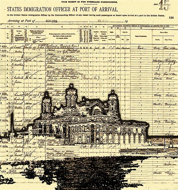 Ellis Island Print by Jeff DOttavio