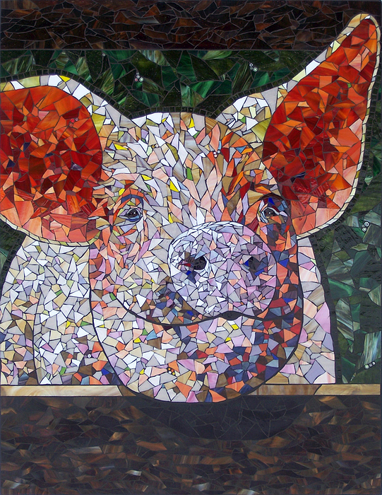 Elmer Print by Barbara Benson Keith