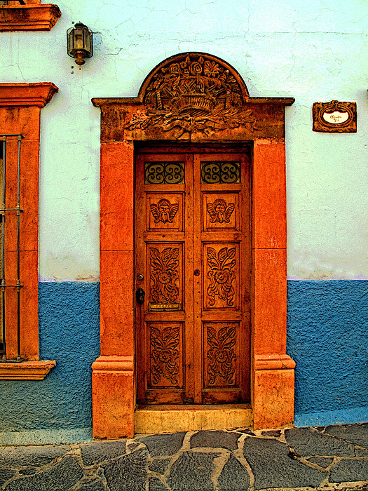 Embellished Puerta Print by Mexicolors Art Photography