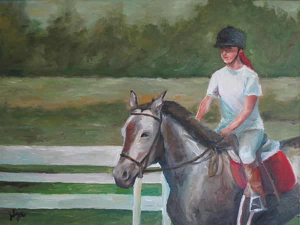 Emma Riding Print by Julie Dalton Gourgues