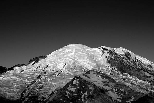 Emmons And Winthrope Glaciers On Mount Rainier Print by Brendan Reals