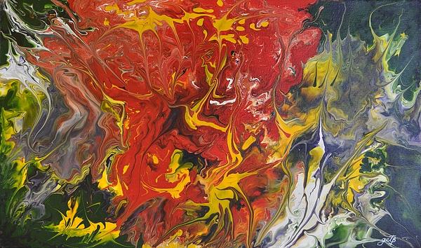 Energy Of Creation Print by Georgeta  Blanaru
