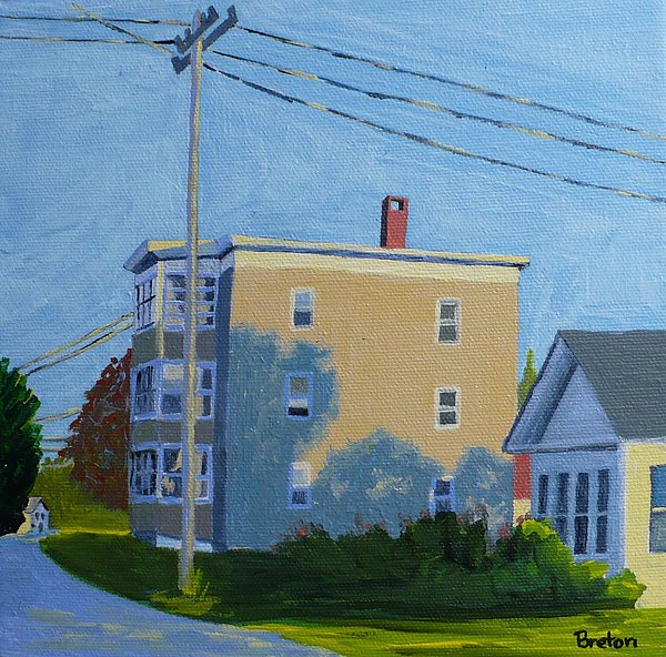 Evening Light Northern Avenue Print by Laurie Breton