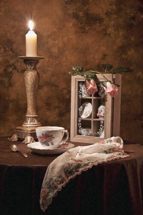 Evening Tea Still Life Print by Tom Mc Nemar
