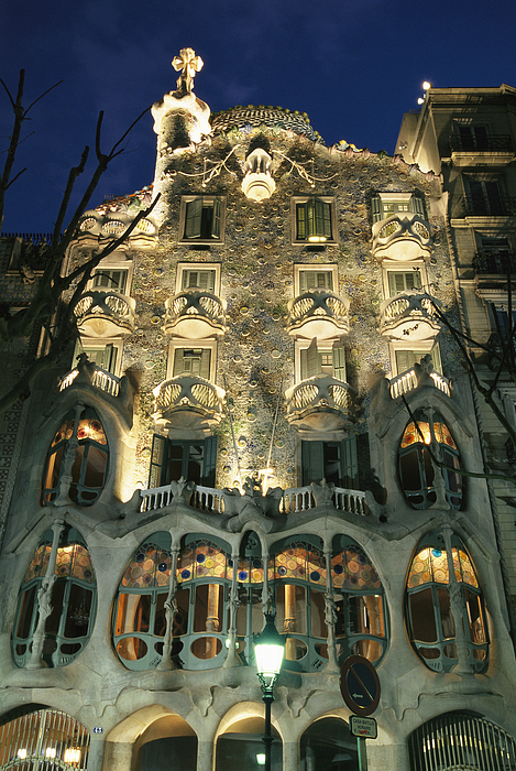 Exterior View Of An Antoni Gaudi Print by Richard Nowitz