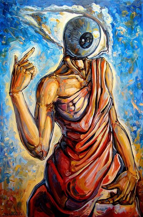 Eye Always Was - Symbolic Representation Of Universal Energy Print by Darwin Leon