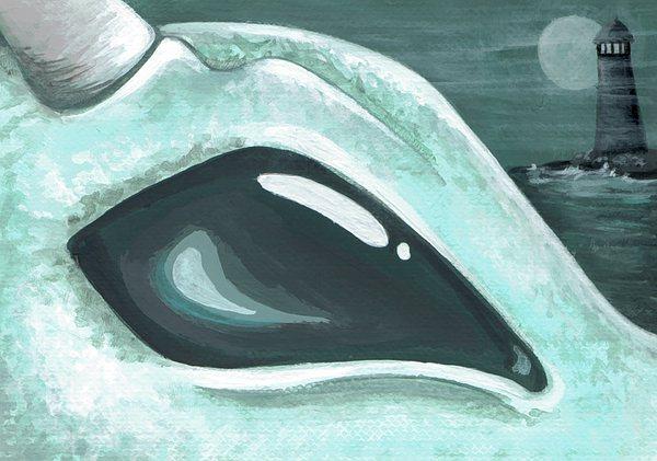 Eye Of The Coast Dragon Print by Elaina  Wagner