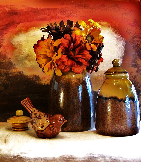 Fall Still Life Print by Marsha Heiken